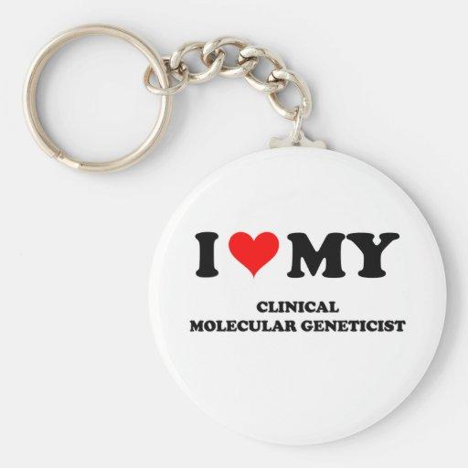 I Love My Clinical Molecular Geneticist Keychain