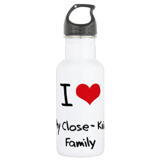 I love My Close-Knit Family 18oz Water Bottle