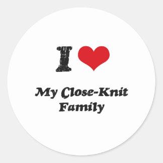 I love My Close-Knit Family Round Sticker
