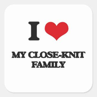 I love My Close-Knit Family Square Sticker