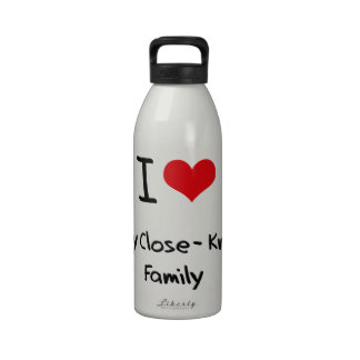 I love My Close-Knit Family Water Bottle