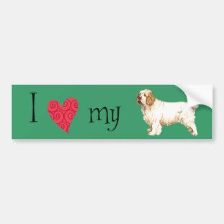 I Love my Clumber Spaniel Bumper Sticker