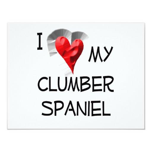 I Love My Clumber Spaniel Card
