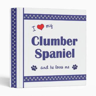 I Love My Clumber Spaniel (Male Dog) 3 Ring Binder