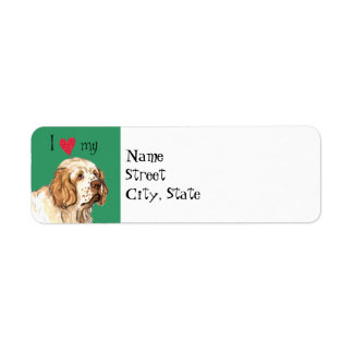 I Love my Clumber Spaniel Return Address Label