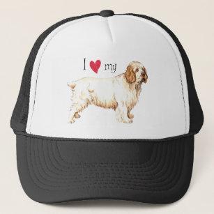 I Love my Clumber Spaniel Trucker Hat