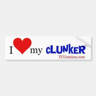 I Love My Clunker - 1 Bumper Stickers