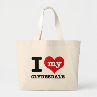 I Love my clydesdale Tote Bags