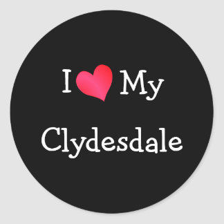 I Love My Clydesdale Classic Round Sticker