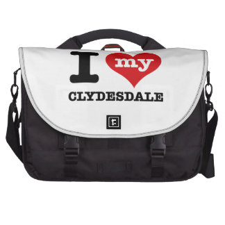 I Love my clydesdale Bags For Laptop