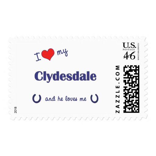 I Love My Clydesdale (Male Horse) Stamps