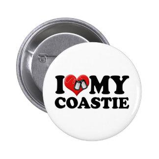 I Love My Coastie Buttons