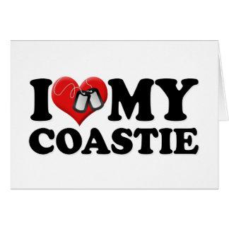 I Love My Coastie Card
