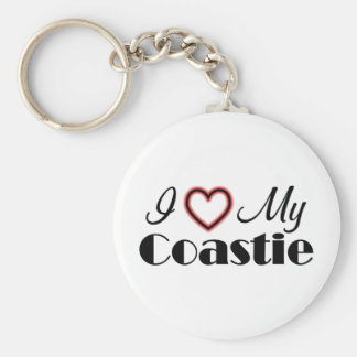 I Love My Coastie Key Chains