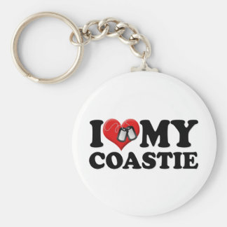 I Love My Coastie Keychain