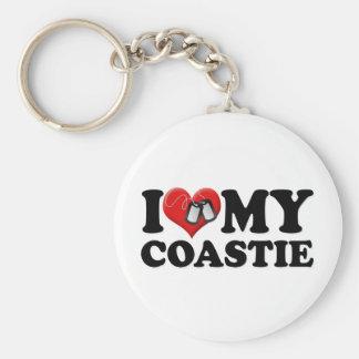 I Love My Coastie Basic Round Button Keychain