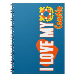 I Love My Coastie! Spiral Notebook