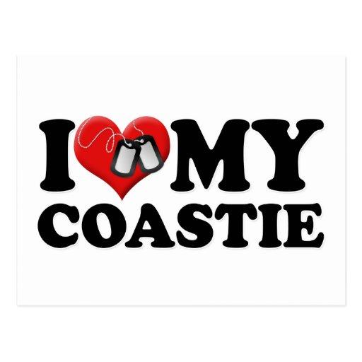 I Love My Coastie Post Card