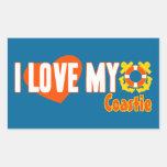I Love My Coastie! Rectangular Sticker