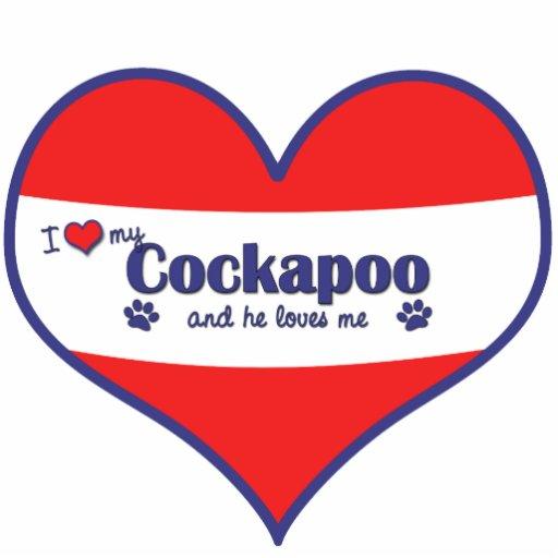 I Love My Cockapoo (Male Dog) Photo Cutout