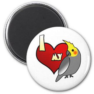 I Love my Cockatiel 2 Inch Round Magnet