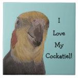 I Love My Cockatiel! Bird Ceramic Tiles