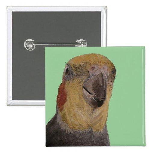 I Love My Cockatiel! Bird Pin