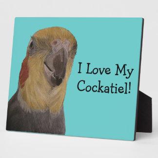 I Love My Cockatiel! Bird Plaque