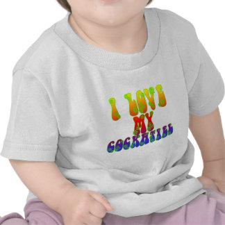I Love My Cockatiel T-shirts