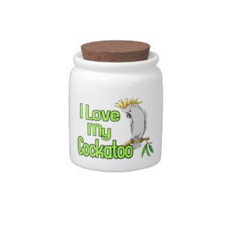 I Love My Cockatoo Candy Jar