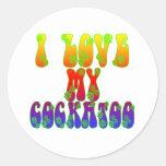 I Love My Cockatoo Round Sticker
