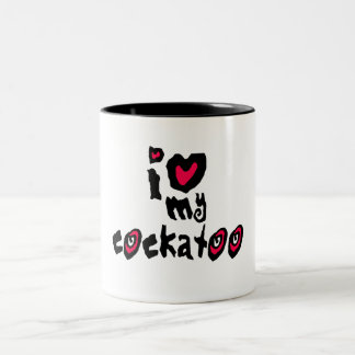 I Love My Cockatoo Two-Tone Coffee Mug