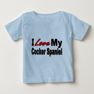 I Love My Cocker Spaniel Gifts and Apparel Tee Shirt