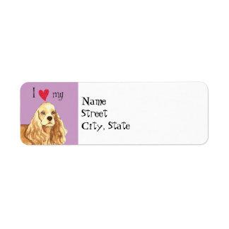 I Love my Cocker Spaniel Label