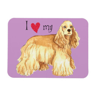 I Love my Cocker Spaniel Magnet