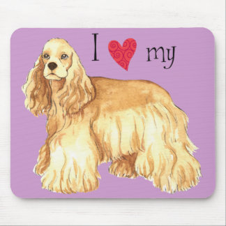 I Love my Cocker Spaniel Mouse Pad