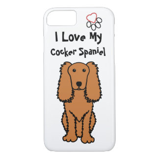 I Love My Cocker Spaniel Phone Case