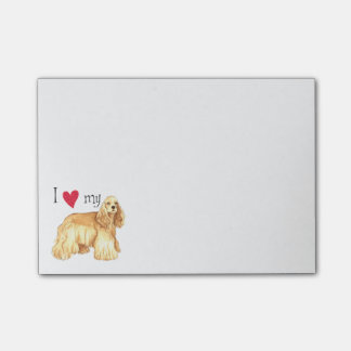 I Love my Cocker Spaniel Post-it Notes