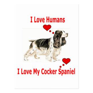 I Love my Cocker Spaniel Postcard