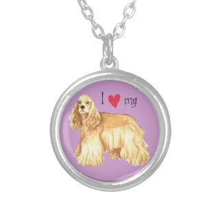 I Love my Cocker Spaniel Silver Plated Necklace