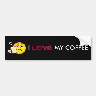 I, LOVE, MY COFFEE bumper sticker