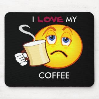 I, LOVE, MY, COFFEE mousepad
