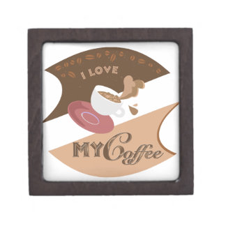 I Love My Coffee Retro Diner Java Splash Jewelry Box
