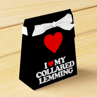 I LOVE MY COLLARED LEMMING PARTY FAVOR BOXES