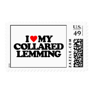 I LOVE MY COLLARED LEMMING POSTAGE STAMPS