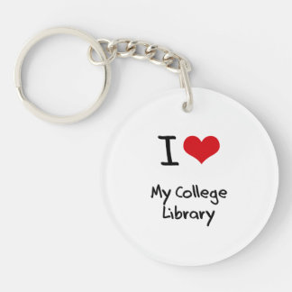 I love My College Library Acrylic Key Chains