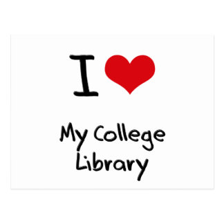 I love My College Library Post Cards