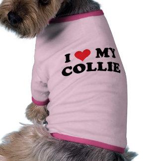 I Love My Collie Dog Tee Shirt
