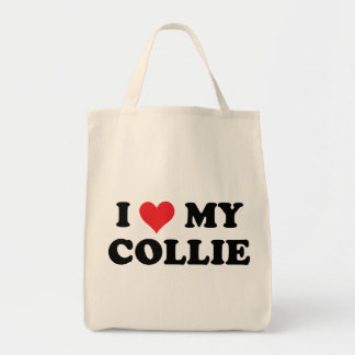 I Love My Collie Grocery Tote Bag