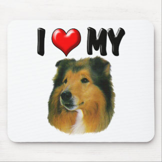 I Love My Collie Mouse Pad